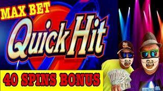 QUICK HIT SLOT!⋆ Slots ⋆AMAZING! 40 SPINS BONUS!! MAX BET!⋆ Slots ⋆HO-CHUNK GAMING MADISON!