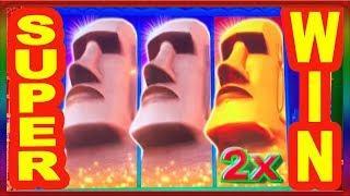 ** SUPER BIG WIN ** GREAT MOAI SLOT MACHINE BY KONAMI ** SLOT LOVER **