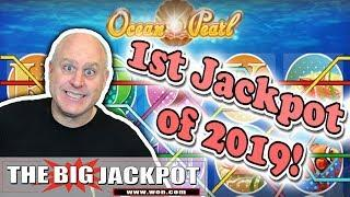1st Jackpot of 2019! •Ocean Pearl BONUS WIN • | The Big Jackpot