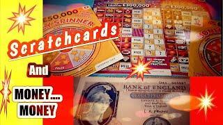 •Wow!Bonus!• Scratchcards LUXURY LINES•.MONEY SPINNER•& Money•Money•