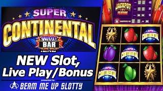 Super Continental Wild Bars Slot - First Look, with Live Play and Free Spins Bonus