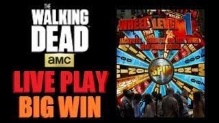 BIG WIN!! LIVE PLAY! The Walking Dead Slot Machine 2014 Bonus!! ~Aristocrat (The Walking Dead)