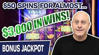 ⋆ Slots ⋆ ALMOST $3,000 FROM FOUR CASH FALLS WINS ⋆ Slots ⋆ Incredible $50 Slot Spins