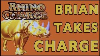 Brian Takes Charge • RHINO CHARGE • Theme Thursdays Live Play • Slot Machine Pokies at MGM