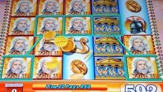 Zeus II Slot Machine-2 Bonuses & A Line Hit