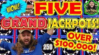 OVER $100k in GRAND JACKPOTS! DRAGON LINK LIGHTNING MIGHTY CASH LIVE HIGH LIMIT