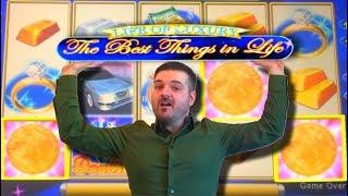 Upto $15 Per Spin! • LIVE PLAY on The Best Things In Life Slot Machine BIGWIN!