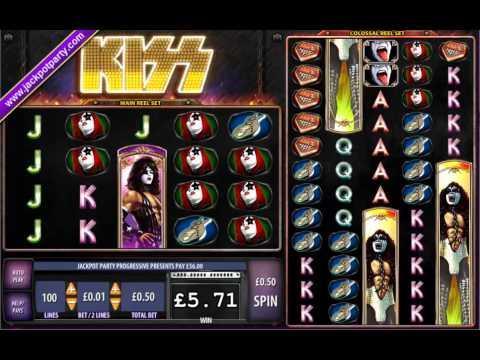 £424 SURPRISE JACKPOT (848X STAKE) KISS ™ BIG WIN SLOTS AT JACKPOT PARTYJG