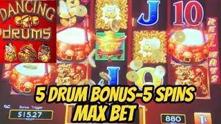 ASKED FOR 5 DRUM BONUS-GOT IT-MAX BET