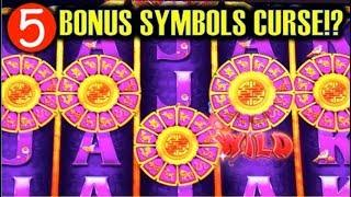 •MAX BET! 5-BONUS SYMBOLS CURSE!?• | GOLDEN ZODIAC - GOLD STACKS & RISE OF RA Slot Machine Bonus