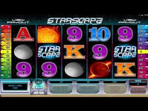 Free Starscape slot machine by Microgaming gameplay ★ SlotsUp
