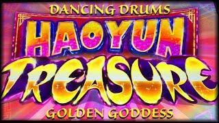 NEW HaoYun Treasures • HIGH LIMIT Golden Goddess & Dancing Drums ••• The Slot Cats