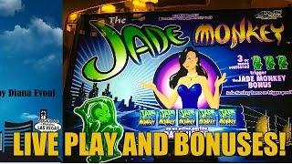 HIGH LIMIT-JADE MONKEY SLOT MACHINE BONUS-LIVE PLAY