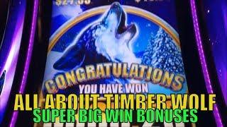 •ALL ABOUT TIMBER WOLF (SUPER BIG WIN ONLY)•Timber Wolf Lover•Timber Wolf/Deluxe/Grand Slot Bonuses•