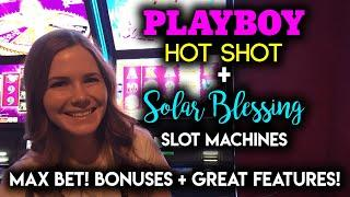 Playboy Hotshot! Slot Machine! Max Bet BONUS! Solar Blessings NICE WIN!