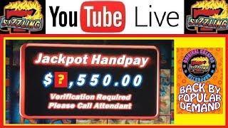 MAJESTIC JACKPOT HAND PAY + HUGE Slot Machine BONUS Casino WINS SIZZLING High Limit Gambling Videos