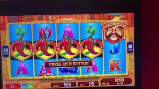 KONAMI 4 Symbol Trigger Chili Chili Fire CASINO Machine BONUS Sizzling Slot Jackpot Videos