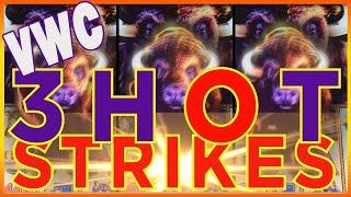 ★★ MAX BET / 3 HOT STRIKES  - HUGE WINS ★★ ARISTOCRAT SLOT MACHINE - BUFFALO STAMPEDE