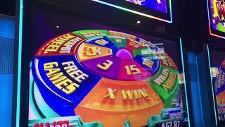 Super Wheel Blast Slot Machine Bonus - Miss Liberty