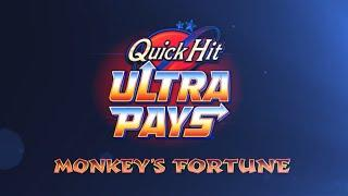 WOW!  HUGE WIN!  8 QUICK HITS on QUICK HIT ULTRA MONKEY'S FORTUNE SLOT MACHINE POKIE