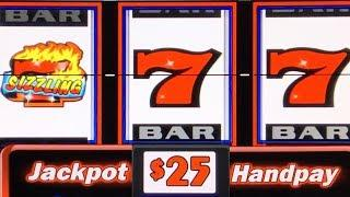 HIGH LIMIT SIZZLING 7 ★ Slots ★ HANDPAY JACKPOT ★ Slots ★ BIG WIN ON A CLASSIC 3-REEL SLOT MACHINE