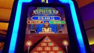 Return Of The SPHINX Slot Machine Live Play!!!! Max Bet $5