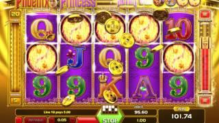 Phoenix Princess Slot (Gameart) - Freespins Feature with Wildline - Big Win