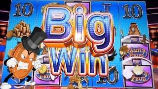 VLR CUSSES THEN KILLS IT ON FAMILY FEUD ALL DAY -- Slot Machine Big Win Bonus Wins