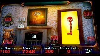 Haunted House Slot Machine $6 Max Bet Shutter Scatter *LIVE PLAY* Bonus!