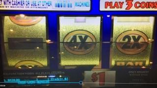Live Play 2x3x4x5x Gold Dollar Slot Machine Max bet $3 and Penny Slot Konami Barona Casino 赤富士スロット