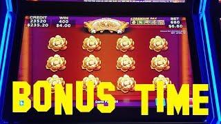 Wealth of Dynasty Live Play max bet $6.80 PICK BONUS Konami Slot Machine