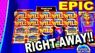 I PUT $100 IN A SLOT MACHINE GOT A SECOND SPIN BONUS!!!!! -New Las Vegas Casino Slot Machine Big Win