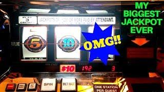 My •BIGGEST• Handpay Jackpot EVER   High Limit 2X 10X 5X BONUS TIME Slot Machine HUGE JACKPOT !
