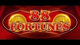 88 FORTUNES HUGE FRIGGIN WIN!  INCREDIBLE RUN AND RETRIGGER!