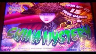 CHINA MYSTERY Slot 5-Cent - BONUS & RETRIGGER!  NICE WIN! at Pechanga Resort and Casino