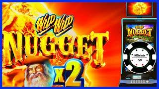 •️HIGH LIMIT Wild Wild Nugget $50 SPINS •️BONUS ROUNDS Slot Machine Casino