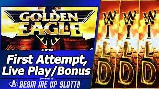 Golden Eagle Slot - Live Play, Free Spins Bonuses in First Look at New IGT game