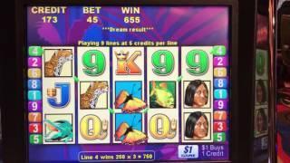 Brazil Slot Machine Bonus Round 5 Free spins at $45/pull