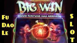 FU DAO LE slot machine PROGRESSIVE, LINE HIT and BONUS WIN