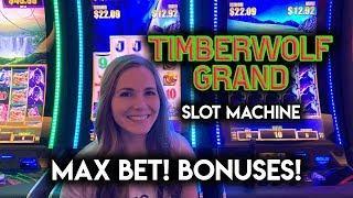 Chasing The Super High Super Jackpot on TimberWolf Grand! Max Bet BONUS!