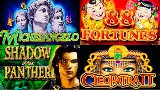 • BONUS & LIVE PLAY • SHADOW OF PANTHERS • MICHELANGELO • CLEOPATRA II • HIGH LIMIT SLOT MACHINE