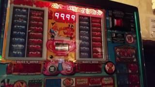 Reflex Fruit Machine Alice Looking Glass Mega Streak Win