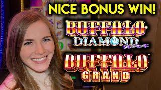 Nice Bonus Win Buffalo Grand Slot Machine! Buffalo Diamond Free Spins!