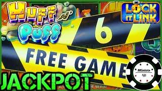 ★ Slots ★HIGH LIMIT Lock It Link Huff N' Puff JACKPOT HANDPAY ★ Slots ★$25 BONUS ROUND Slot Machine