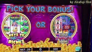 Super Big Win•Stinkin' Rich Slot Machine Hot POKER DICE With PROGRESSIVES Bonus • Barona Casino