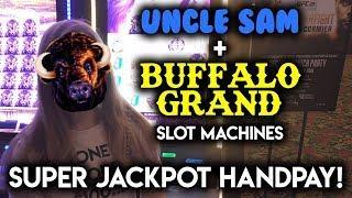 SUPER JACKPOT HANDPAY on BUFFALO GRAND! Slot Machine! How Much did the BONUS Wheel give me???