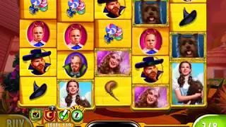 "WIZARD OF OZ: YELLOW BRICK ROAD Video Slot Game with an ""EPIC WIN""  FREE SPIN BONUS"