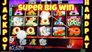 • SUPER BIG WIN • HIGH LIMIT SLOT JACKPOT HANDPAY SUPER HOOT LOOT
