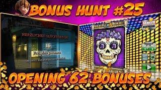 BONUS HUNT #25 - OPENING 62 SLOT BONUSES LIVE ON STREAM! - BIG WINS?