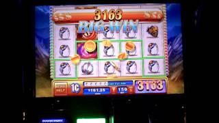 Slot machine line hit on Dragons Realm at Revel Casino in Atlantic City, NJ